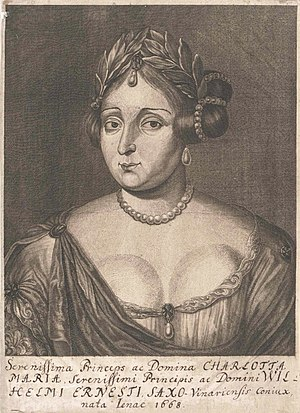 Charlotte Marie of Saxe-Jena - Image: Charlotte Marie of Saxe Jena