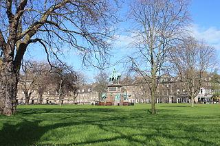 Charlotte Square city square in Edinburgh, Scotland
