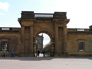 Main gate of Chatsworth House, England