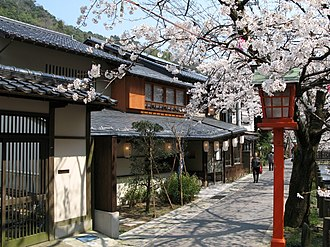 Toyooka, Hyōgo - Image: Cherry blossoms in Kinosaki Onsen