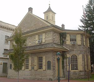 Middle Colonies - Chester Courthouse in Pennsylvania was built in 1724