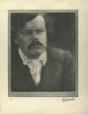 English: Author G.K. Chesterton August 12, 1904