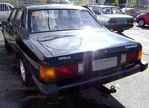 Chevrolet Opala - Facelifted four-door Opala, rear view
