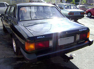 Chevrolet Opala - Facelifted four-door Opala, rear view