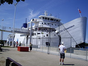 Tobermory, Ontario - MS Chi-Cheemaun ferry docking in Tobermory.