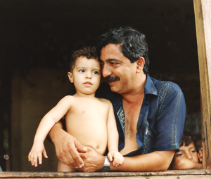 Chico Mendes - Chico Mendes with his son, Sandino