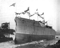 Chilean battleship Almirante Latorre launch.png