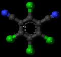 Chlorothalonil molecule ball.png