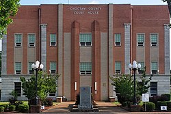 The Choctaw County Courthouse in Hugo.
