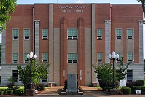 Choctaw County, Oklahoma - Image: Choctaw county ok courthouse