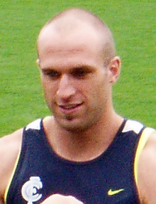Chris Judd at a training session for his new club Carlton in 2008.