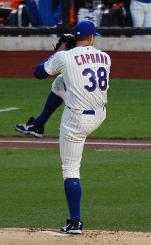 Chris Capuano - Capuano pitching for the New York Mets in 2011.