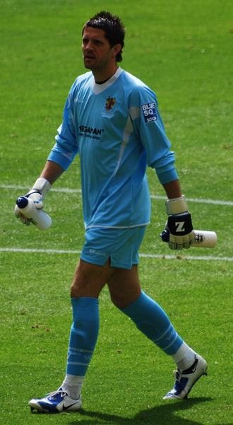Chris Day - Day playing for Stevenage Borough in the 2009 FA Trophy Final