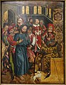 Christ before Caiaphas, by Wolfgang Katzheimer, Bamburg, c. 1480-1485, painting on fir - Germanisches Nationalmuseum - Nuremberg, Germany - DSC02890.jpg