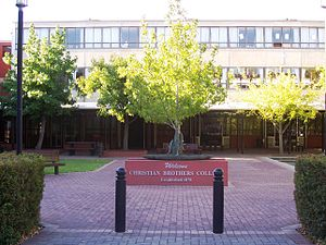 Christian Brothers College, Adelaide - Entrance to Christian Brothers College Senior Campus via Wakefield Street