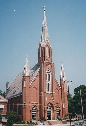 Roman Catholic Diocese of Davenport - Image: Church of All Saints Keokuk Iowa exterior