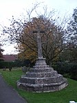 Churchyard cross in All Saints churchyard