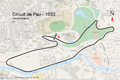 Illustration du Circuit de Pau-Ville en 1933.