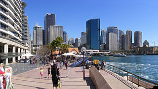 Sydney Cove Bay in Sydney Harbour, Australia