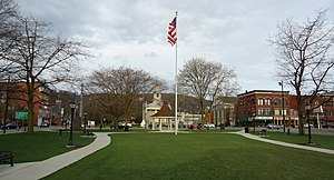 Norwich, New York - Image: City of Norwich in New York State 41 downtown green