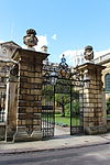 Clare College, Cambridge - Gates and Railings to Trinity Hall Lane.JPG