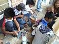 Clase de artes plásticas con niños de Ayahualulco, Veracruz, México 06.jpg