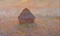 Claude Monet - Grainstack, Sun in the Mist - Google Art Project.jpg