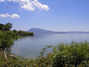 Lake County, California - Clear Lake, the dominant geographic feature in Lake County