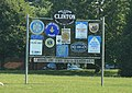 Clinton Michigan Welcome Sign, approx. 11800 Tecumseh Clinton Highway, Clinton, Michigan - panoramio.jpg