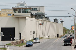 Clinton Correctional Facility - Southern perimeter wall, 2007