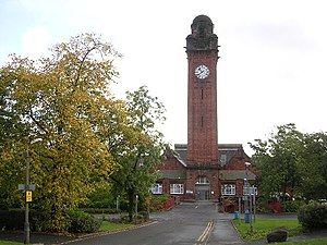 Stobhill Hospital - The B-listed clock tower of Stobhill Hospital