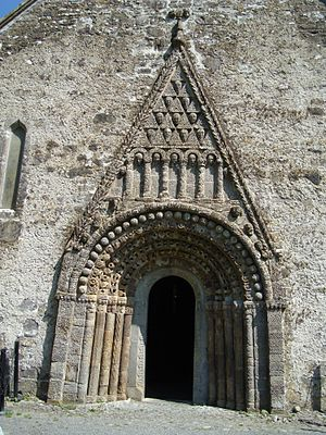 Clonfert Cathedral - Detail of doorway