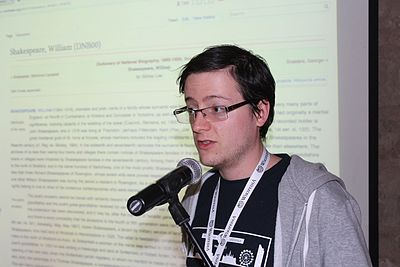 Thomas (Tpt) at the Wikimedia Hackathon in Jerusalem