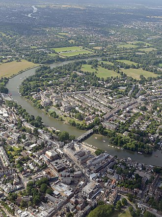 London Borough of Richmond upon Thames - Aerial view of Richmond and East Twickenham from the north, August 2015