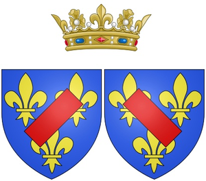 Marie Anne de Bourbon, Duchess of Vendôme - Coat of arms of Marie Anne de Bourbon as Duchess of Vendôme