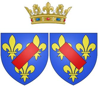 Marie Anne de Bourbon, Duchess of Vendôme - Coat of arms of Marie Anne de Bourbon as Duchess of Vendôme