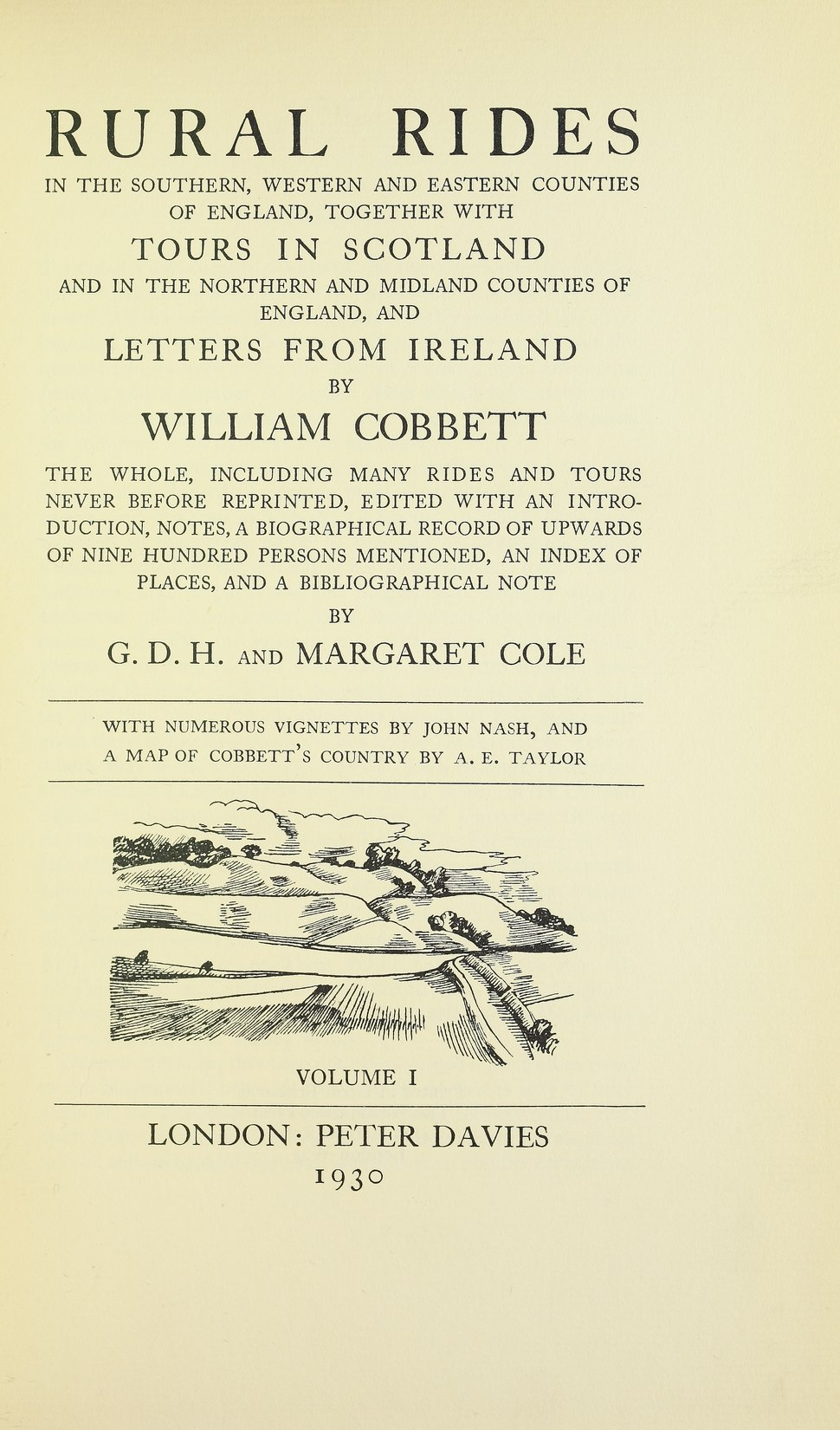 Cobbett - Rural rides in the southern, western and eastern counties of England, 1930 - 5214769