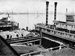 Collier's 1921 Mississippi River - steamer at New Orleans for rice.jpg