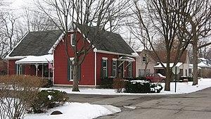 Cumberland, Indiana - A residential neighborhood in northern Cumberland