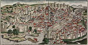 Florence - View of Florence by Hartmann Schedel, published in 1493