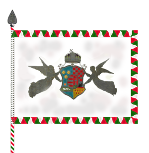 Royal Hungarian Honvéd - Obverse of the Royal Hungarian Honvéd's colours