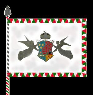 Royal Hungarian Honvéd - Obverse of the Royal Hungarian Honvéd's colours