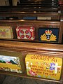 Colourful kneelers within St Peter's, Northney - geograph.org.uk - 1153179.jpg