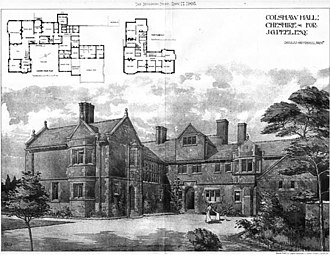 Colshaw Hall - Architects' drawing of Colshaw Hall