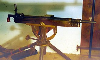 M1895 Colt–Browning machine gun - Colt–Browning M1895/14 machine gun in 7mm Mauser caliber, possibly used in the Mexican Revolution.