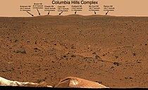 Columbia Hills from MER-A landing site PIA05200 br2.jpg
