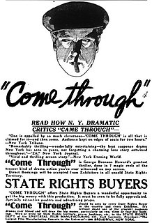 <i>Come Through</i> (film) 1917 American silent crime film directed by Jack Conway