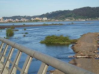 Biobío River - The Biobío at Concepción close to where it meets the sea