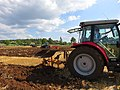 Concours de labour de Boissia - Tracteur Massey labourant (juil 2018).jpg