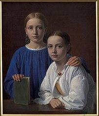 Meta Magdalene Hammerich and the Artist's Daughter Kristiane Konstantin Hansen